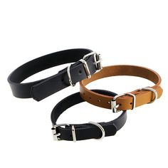 Cow Leather Dog Pet Cat Puppy Collar Neck Buckle Adjustable #K400Y# #Affiliate