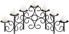 Enjoy calm and serene summer evenings by the hearth, with the Filigree 7 Candle Black Fireplace Candelabra . This premium and well-designed candelabra. Fireplace Candelabra, Fireplace Candle Holder, Black Candelabra, Candelabra Centerpiece, Black Candles, Centerpieces, Candle Stand, Candle Set, Candle Holders