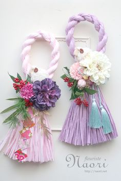 Japanese New Year wreath 2015 … Diy Arts And Crafts, Crafts To Make, Paper Crafts, Diy Crafts, Rideaux Design, Rakhi Design, Neuer Job, Diy Upcycling, Flower Phone Wallpaper