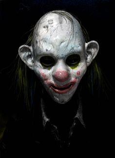 Joker's clown masked men by Rob Bliss