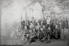 1886 dedication of the 23rd PA Birney  Zouaves
