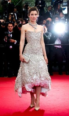 Jessica Biel At The Premiere Of 'Inside Llewyn Davis' At Cannes film Festival, 2013