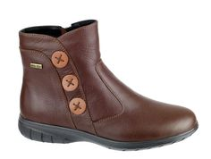 Cotswold Dowdeswell Ladies Waterproof Zip Up Ankle Boot With Button Detail - Chocolate - Robin Elt Shoes  http://www.robineltshoes.co.uk/store/search/brand/Cotswold-Ladies/ #Autumn #Winter #AW14 #2014