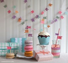 Have a mini party with washi tape decor #washitape #party #decor