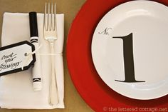 numbered plates