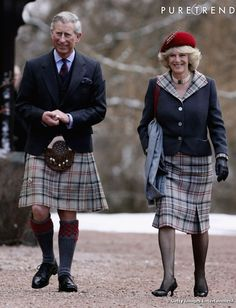 Happy anniversary Charles and Camilla, in their role as the Duke and Duchess of Rothesay, arrive at Crathie Churchon in Ballater, Scotland in The royal couple spent their first wedding anniversary at Birkhall on the Balmoral Estate. Prince Philip, Prince Of Wales, Die Queen, Camilla Duchess Of Cornwall, Elisabeth Ii, Men In Kilts, British Monarchy, Lady Diana, Queen Elizabeth Ii