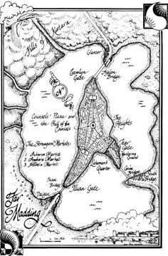 Two Rivers map, Wheel of Time, Robert Jordan | Maps - Old and ...