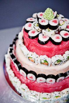 YES PLEASE!! Sushi cake!