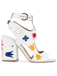 Laurence Dacade 'Naton' floral applique sandals