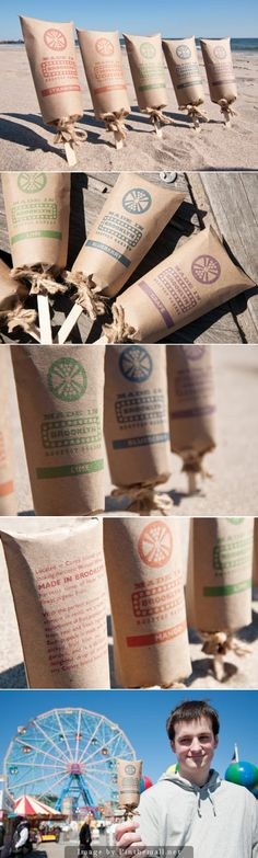 Made in Brooklyn organic fruit popsicles by Amy Chan (Concept) #packaging #design