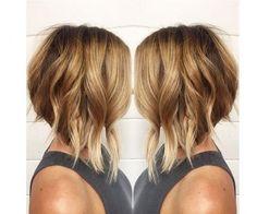 Cheveux mi-longs: carré plongeant #tendances#2016