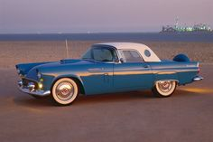 Ford Thunderbird...Want a '55 Turq. Blue like this one!!