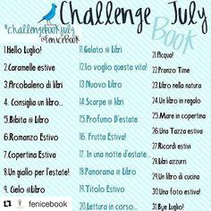#Repost @fenicebook with @repostapp  #Bonjour  Luglio avrà la nostra #challengebookjuly2016   Come sempre le regole da seguire sono semplici oggi si inizia a condividere...  Ciò che dovrete fare è  1Condividere questa foto in questi giorni fino al 30 Giugno sui vostri profili e taggare tutti i vostri amici amanti dei libri a partecipare  2Scattare una foto ogni giorno con il tema che è scritto affianco al numero (se ne saltate qualcuna non importa)  3 Taggare @fenicebook  e usare l'hashatag…