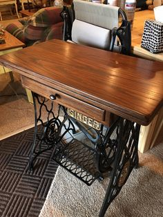 Antique Singer Sewing Machine Table by RedesignAntiques on Etsy