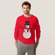 Red Snowman Ugly Christmas Sweater