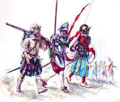 """""""Spanish Tercios soldiers in Maastricht"""", J. C. Iribarren"""
