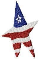 American Star - 4x4 | Primitive | Machine Embroidery Designs | SWAKembroidery.com HeartStrings Embroidery