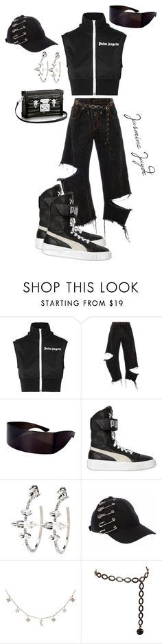"""Untitled #630"" by jasminejayde ❤ liked on Polyvore featuring Palm Angels, Monse, Puma, Miu Miu, Luna Skye and Chanel"