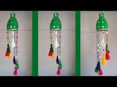 DIY: make a plastic bottle ! How to make the beautiful waste bottle hanging for interior decoratio Fused Plastic, Plastic Bottle Crafts, Diy Bottle, Wine Bottle Crafts, Recycle Plastic Bottles, Plastic Waste, Plastic Bags, Waste Bottle Craft, Craft From Waste Material