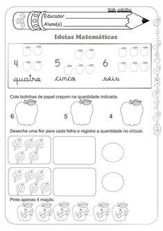Sequencia Numérica Ideias Matemáticas Medida Contagem e Soma Educação Infantil