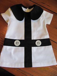Retro 1960's style  Lauren white and black by faithworks4u on Etsy, $48.00