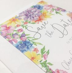 A little snippet of a custom Save the Date heading out to a lovely bride-to-be - TasherellaKitty Designs - Hand Painted Wedding Stationary . Watercolour Flowers, Wedding Show, Surface Pattern Design, Wedding Stationary, Save The Date, Weddingideas, Florals, Floral Prints, Stationery