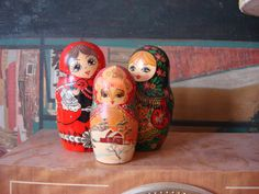 Vintage Artist Russian Matryoshka Babushka by OldMoscowVintage, $36.00