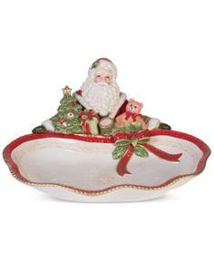 Fitz & Floyd Crimson Holiday Santa Server, Only at Macy's   macys.com