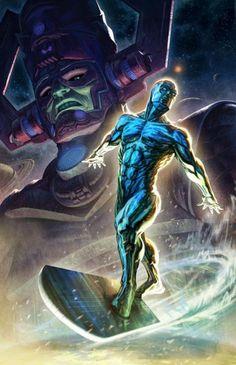 Galactus & the Silver Surfer by Fabian Schlaga