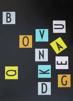 Our new memorygame featuring Arne Jacobsen's vintage typography. With the letters from A- Z.  www.designletters.dk