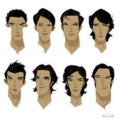 A few head sketches of some handsome devils. . .or douchebags. . . #art #conceptart #visdev #headsketches #handsome #princecharming #smug #illustration #gameart #derekstratton #derekstrattonart #ideation #digitalart #characterdesign #design