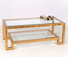 Winston Coffee Table - Gold Leaf - Worlds Away | Clayton Gray Home $1340 #DebraMcCue