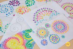 Punktebilder Office Supplies, Cards, Colorful Artwork, Bouncy Ball, Homemade Toys, Game Ideas, Dots, Work Shop Garage, Maps