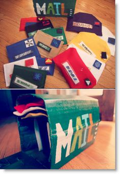 mailbox ♥ http://felting.craftgossip.com/2013/04/06/easy-no-sew-mail-and-play-mailbox-tutorial/