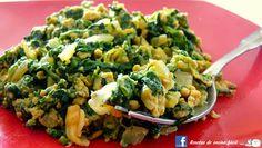 Cocina fácil: Huevos revueltos con espinaca