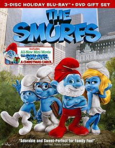 The Smurfs/The Smurfs: Christmas Carol (Blu-ray / DVD 3-Disc Set) FREE SHIPPING