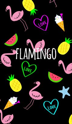 It is a pop theme of neon color flamingo Watermelon, pineapple, heart, ice cream It is also recommended for those who like Unicornios Wallpaper, Flamingo Wallpaper, Summer Wallpaper, Cute Wallpaper Backgrounds, Cellphone Wallpaper, Galaxy Wallpaper, Aesthetic Iphone Wallpaper, Cute Wallpapers, Iphone Backgrounds