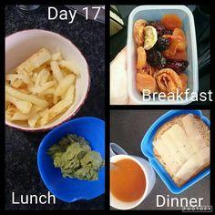 dag 17 Diet Meals, Diet Recipes, Recipies, 28 Dae Dieet, Dieet Plan, Breakfast Lunch Dinner, 28 Days, Eating Plans, Kos
