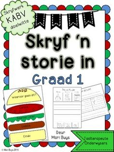 Leer jou kinders om 'n storie te skryf! Speech Language Pathology, Speech And Language, Afrikaans Language, Teaching Posters, Jolly Phonics, Future Jobs, English Vocabulary Words, Classroom Activities, Classroom Ideas
