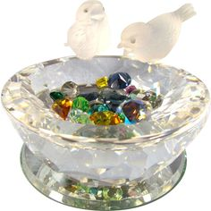Bird IS the Word with this Swarovski Bird Bath. Fly on over to The Old Stone Mansion on Ruby Lane and make it yours.