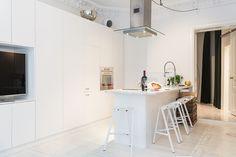 All white kitchen.
