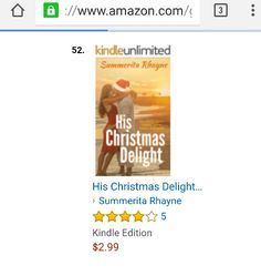 In #Amazon #bestsellers in its own category #HisChristmasDelight https://www.amazon.com/Christmas-Delight-Chritsmas-Romance-Book-ebook/dp/B01BYHO0AI