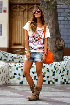 boots with shorts  T