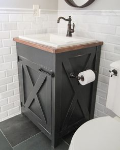 Best Of Home And Garden: DIY Farmhouse Bathroom Vanity   Shanty 2 Chic