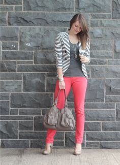 striped blazer again. can't help it! <3 them.
