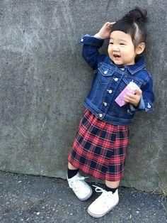 hanamen♡さんのデニムジャケット「OLD NAVY 」を使ったコーディネート