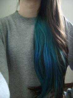 my teal hair didn't last enough! Dye My Hair, New Hair, Coloured Hair, Green Hair, Blue Green, Red Purple, Color Blue, Pink, Ombre Hair