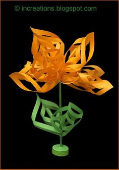 Inna's Creations: Curly paper flower