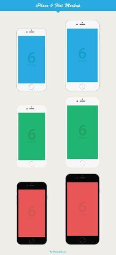iPhone 6 Flat Vector Mockup Freebie on Behance