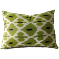 Green Ikat Pillow, Green Ikat Pillow Cover, Green Ikat Throw Pillow,... ($35) ❤ liked on Polyvore featuring home, home decor, throw pillows, green throw pillows, ikat throw pillows, green home decor, ikat home decor and green home accessories
